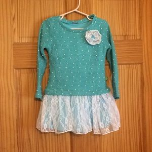 Dollie and me size 5 turquoise dress
